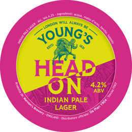 YOUNG'S HEAD ON IPL | INDIA PALE LAGER | MARSTON'S | GRAN BRETAGNA